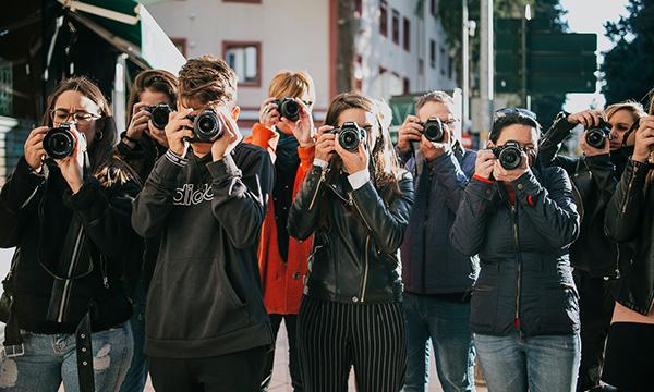 Grupo de alumnos tomando una foto