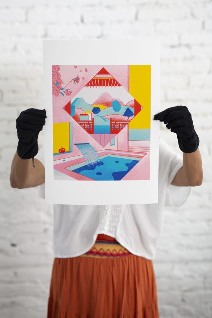la camara roja- giclee-laboratorio-ilustracion-hahnemuhle- giclee prints